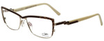 Cazal Designer Eyeglasses Cazal-4217-004 in Brown Leopard Cream 54mm :: Custom Left & Right Lens