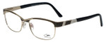 Cazal Designer Eyeglasses Cazal-4227-001 in Black Gold 53mm :: Progressive