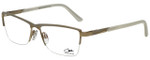 Cazal Designer Eyeglasses Cazal-4218-002 in White Gold 55mm :: Rx Bi-Focal