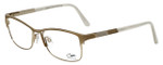 Cazal Designer Eyeglasses Cazal-4233-002 in Gold White 53mm :: Rx Bi-Focal