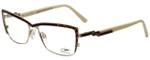 Cazal Designer Reading Glasses Cazal-4217-004 in Brown Leopard Cream 54mm