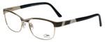 Cazal Designer Reading Glasses Cazal-4227-001 in Black Gold 53mm