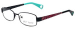 Betsey Johnson Designer Eyeglasses Mischief BJ0187-01 in Black Pink Cheetah 52mm :: Rx Single Vision