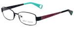 Betsey Johnson Designer Eyeglasses Mischief BJ0187-01 in Black Pink Cheetah 52mm :: Rx Single Vision