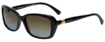 Vogue Designer Polarized Sunglasses VO2964-W44 in Black with Brown Gradient Lens