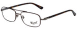 Persol Designer Eyeglasses PO2403V-992 in Matte Dark Brown 53mm :: Custom Left & Right Lens