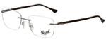 Persol Designer Eyeglasses PO2428V-1021-52 in Silver 54mm :: Custom Left & Right Lens