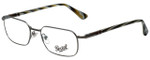 Persol Designer Eyeglasses PO2431V-997-53 in Gunmetal 53mm :: Custom Left & Right Lens