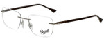 Persol Designer Eyeglasses PO2428V-1021-52 in Silver 54mm :: Rx Bi-Focal