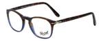 Persol Designer Eyeglasses Terra e Oceano PO3007V-1022 in Tortoise Blue Gradient 48mm :: Custom Left & Right Lens