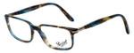 Persol Designer Eyeglasses PO3013V-973 in Brown Spotted Blue 51mm :: Custom Left & Right Lens