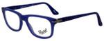 Persol Designer Eyeglasses PO3029V-9003 in Matte Blue 52mm :: Custom Left & Right Lens