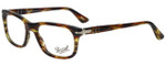 Persol Designer Eyeglasses PO3029V-938 in Green Striped Brown 52mm :: Custom Left & Right Lens