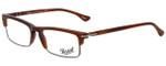 Persol Designer Eyeglasses PO3049V-957-52 in Corrugate Brown 52mm :: Custom Left & Right Lens