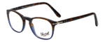 Persol Designer Eyeglasses Terra e Oceano PO3007V-1022 in Tortoise Blue Gradient 48mm :: Rx Single Vision