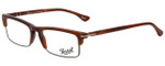 Persol Designer Eyeglasses PO3049V-957-52 in Corrugate Brown 52mm :: Rx Single Vision