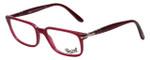 Persol Designer Eyeglasses Granato PO3013V-1016 in Dark Magenta 51mm :: Rx Single Vision
