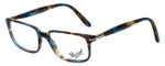 Persol Designer Eyeglasses PO3013V-973 in Brown Spotted Blue 51mm :: Rx Bi-Focal