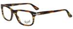 Persol Designer Eyeglasses PO3029V-938 in Green Striped Brown 52mm :: Rx Bi-Focal