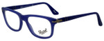 Persol Designer Reading Glasses PO3029V-9003 in Matte Blue 52mm