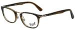 Persol Designer Eyeglasses PO3126V-1021 in Striped Light Brown 50mm :: Custom Left & Right Lens