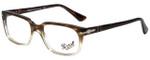 Persol Designer Eyeglasses PO3131V-1037-54 in Striped Brown Gradient 54mm :: Custom Left & Right Lens