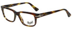 Persol Designer Eyeglasses Film Noir Edition PO3073V-938 in Green Striped Brown 52mm :: Rx Single Vision