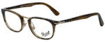 Persol Designer Eyeglasses PO3126V-1021 in Striped Light Brown 50mm :: Rx Single Vision