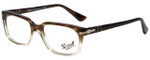 Persol Designer Eyeglasses PO3131V-1037-52 in Striped Brown Gradient 52mm :: Rx Single Vision