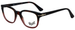 Persol Designer Eyeglasses PO3093V-9025-50 in Tortoise Red Gradient 50mm :: Progressive