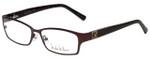 Nicole Miller Designer Eyeglasses Bowery-01 in Matte Espresso 53mm :: Rx Single Vision