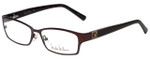 Nicole Miller Designer Eyeglasses Bowery-01 in Matte Espresso 53mm :: Progressive