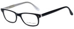 Ernest Hemingway Designer Eyeglasses H4617 in Black-Clear 52mm :: Custom Left & Right Lens
