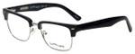 Ernest Hemingway Designer Eyeglasses H4828 in Shiny Black Silver 53mm :: Custom Left & Right Lens