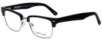 Ernest Hemingway Designer Eyeglasses H4828 in Matte Black Silver 53mm :: Rx Single Vision
