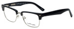 Ernest Hemingway Designer Eyeglasses H4828 in Shiny Black Silver 53mm :: Rx Single Vision