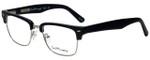 Ernest Hemingway Designer Eyeglasses H4828 in Matte Black Silver 53mm :: Progressive