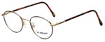 LA Gear Designer Reading Glasses Golden Gate in Amber with Blue Light Filter + A/R Lenses