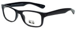 Gotham Style Designer Reading Glasses G229 in Black with Blue Light Filter + A/R Lenses
