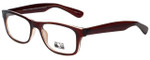 Gotham Style Designer Reading Glasses G229 in Brown with Blue Light Filter + A/R Lenses