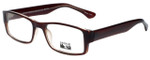 Gotham Style Reading Glasses G232 in Brown with Blue Light Filter + A/R Lenses