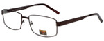 Gotham Style Reading Glasses GS13 in Brown with Blue Light Filter + A/R Lenses