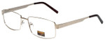 Gotham Style Designer Reading Glasses GS13 in Gold with Blue Light Filter + A/R Lenses