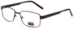 Gotham Style Reading Glasses GS14 in Brown with Blue Light Filter + A/R Lenses
