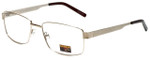 Gotham Style Reading Glasses GS14 in Gold with Blue Light Filter + A/R Lenses