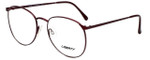 Liberty Optical Reading Glasses LA-4C-7 in Antique Red with Blue Light Filter + A/R Lenses