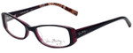 Vera Bradley Reading Glasses 3001-PLM in Piccadilly Plum with Blue Light Filter + A/R Lenses