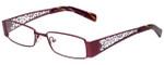 Calabria Designer Reading Glasses 812-PUR in Purple 49mm