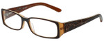 Calabria Designer Eyeglasses 818-BRN in Brown 52mm :: Custom Left & Right Lens
