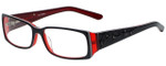 Calabria Designer Eyeglasses 818-BLK in Black 52mm :: Progressive